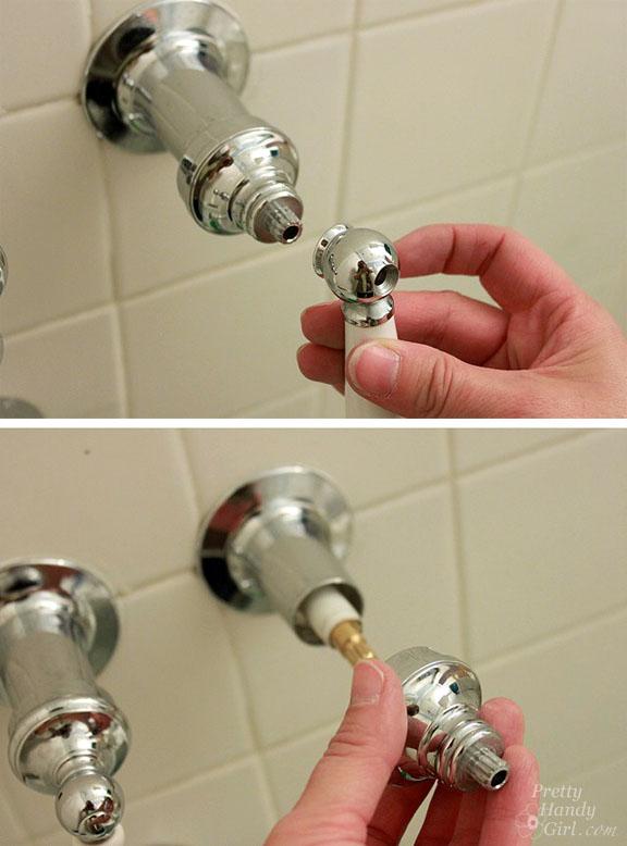 repair a leaky shower or tub faucet
