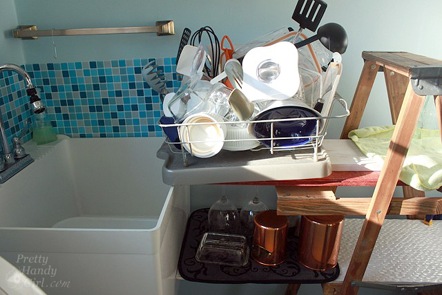 dishes_drying_on_ladder