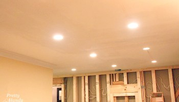 How To Update Ugly Recessed Can Lights With Energy Efficient Led Lights Pretty Handy Girl