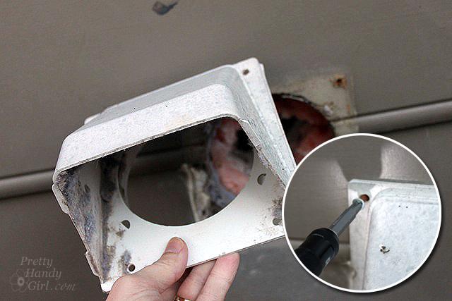 remove exterior vent cover