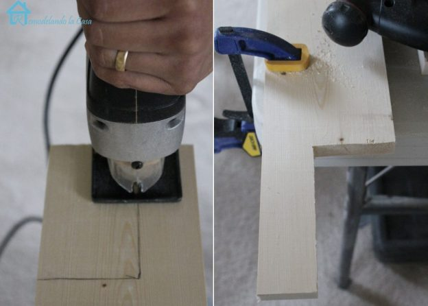 Cutting window stool with jig saw lg