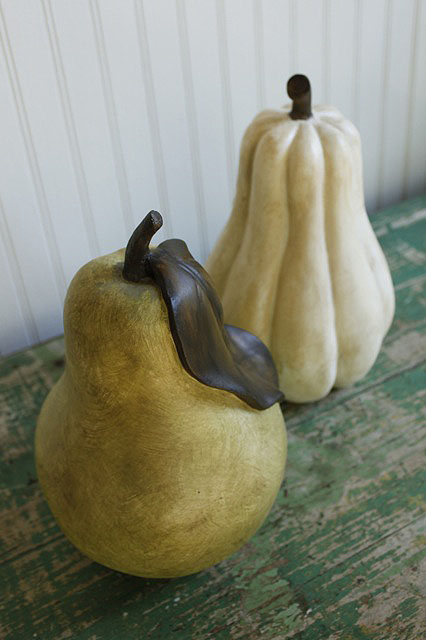 Repaint Dated Decor Pear and Gourd