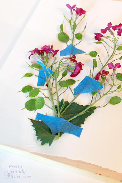 tape_flower_into_shape