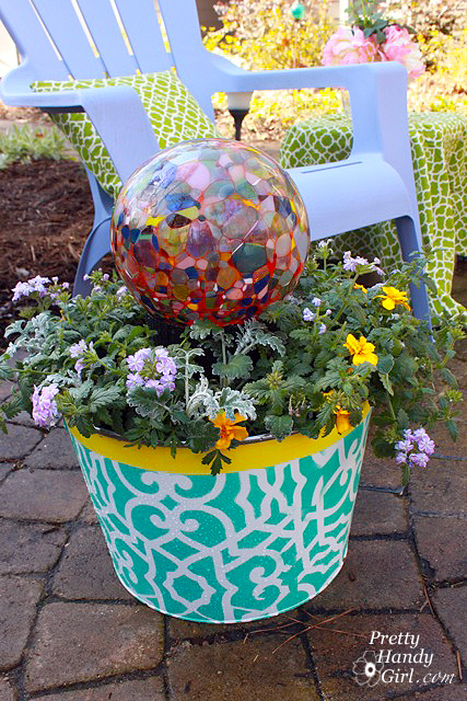 vibrant_ice_bucket_planter