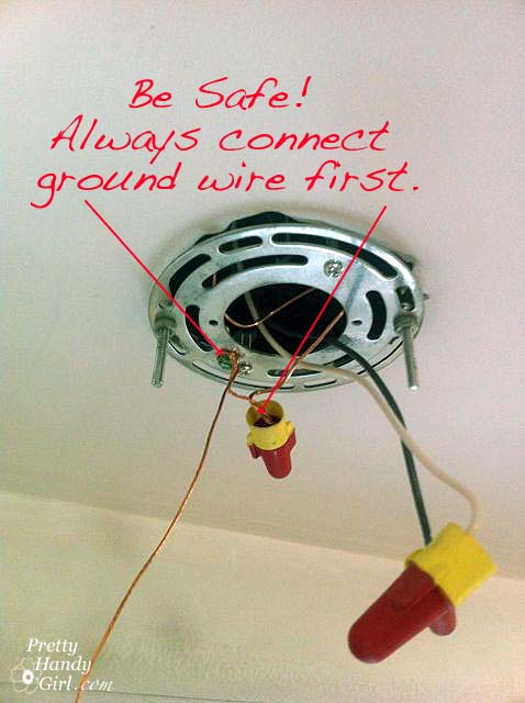 how to install a hard wired pendant light pretty handy girl Can Light Wiring Diagram