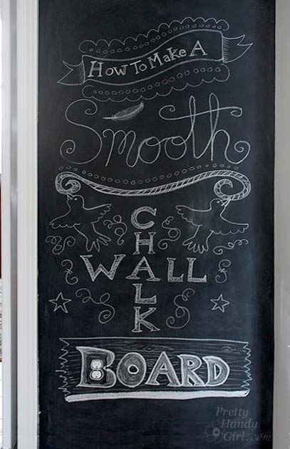 how to make a smooth chalkboard wall for imperfect walls pretty