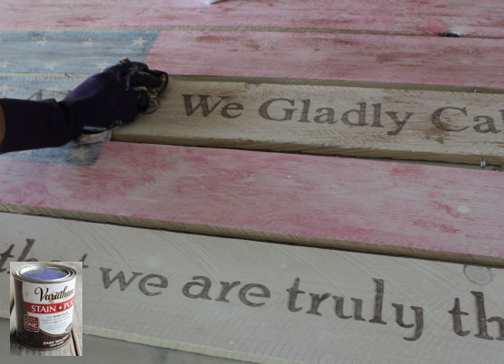 Staining sign