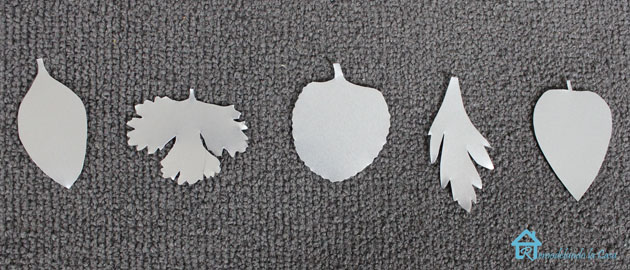 cutout metal leaf tags