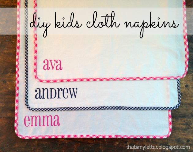DIY Kids Cloth Napkins Tutorial - Pretty Handy Girl