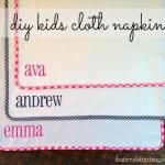 DIY Kids Cloth Napkins Tutorial