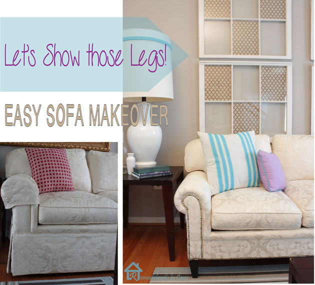 Easy Sofa Makeover And Living Room Mini-Makeover
