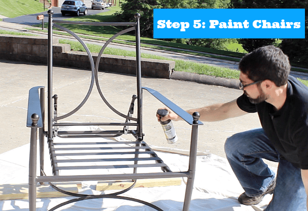 Remarkable Painting Metal Patio Chairs 5 Easy Steps To An Awesome Dailytribune Chair Design For Home Dailytribuneorg