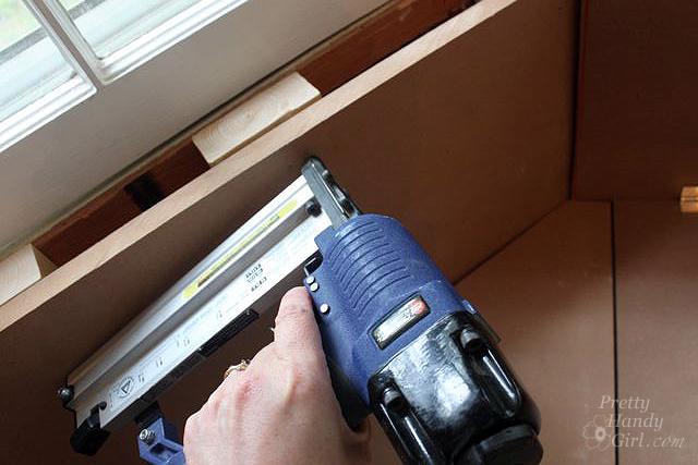 attach mdf back finish nails