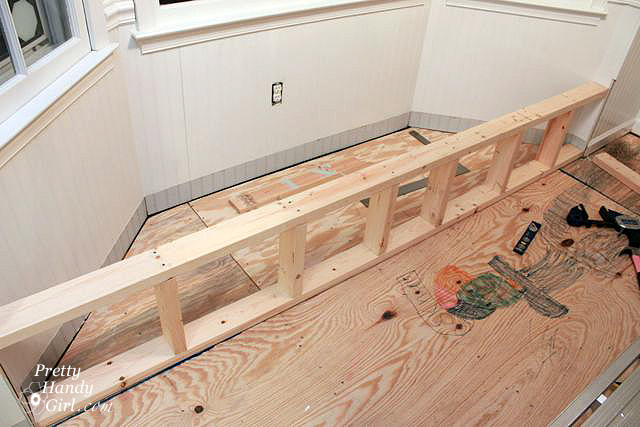 build front frame for window seat