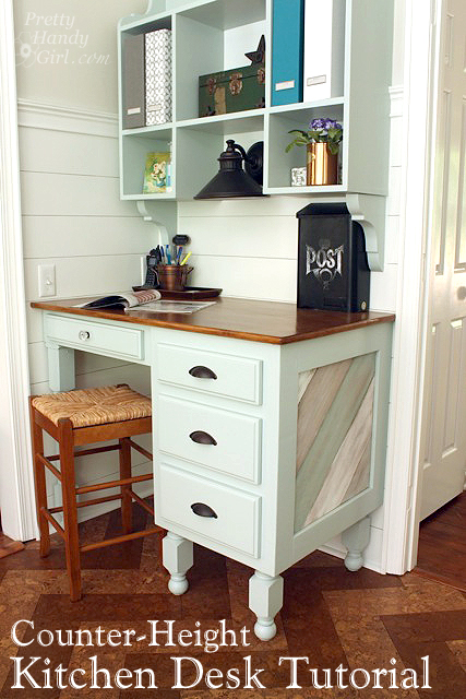 Counter Height Kitchen Desk Tutorial
