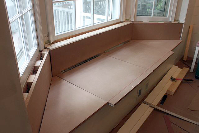 mdf panels cut window seat