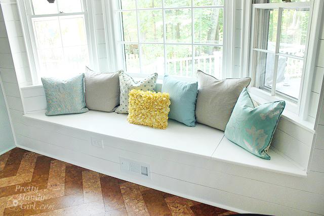 window seat in bay window no cushion