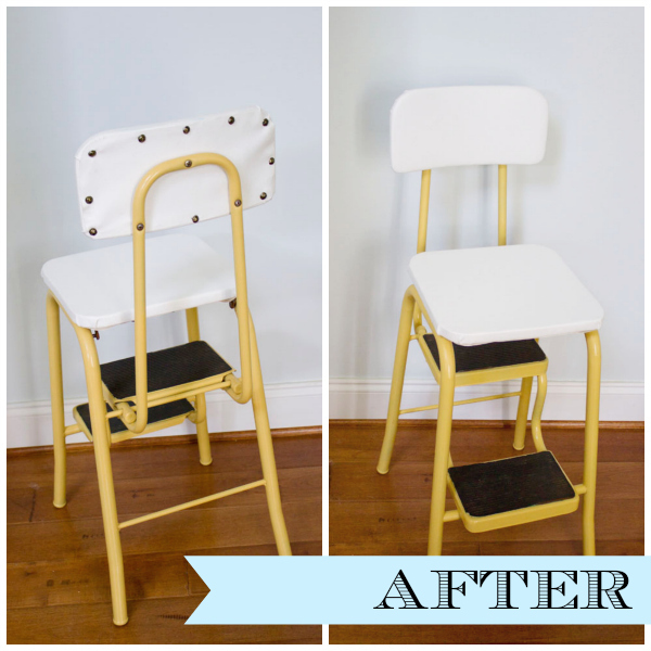 Curbside Vintage Step Stool Makeover