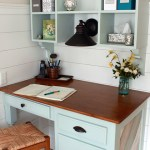 How to Cut and Finish an Old Tabletop to Create a Wood Desk Top