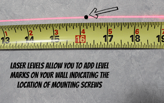 Level Mounting Screw Marks