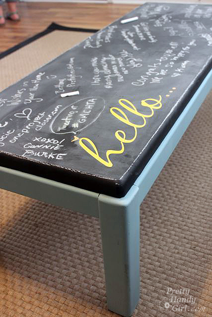 chalkboard paint projects - chalkboard coffee table