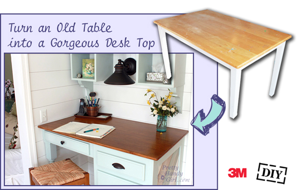Do It Yourself Divas Diy Kitchen Table Makeover: How To Cut And Finish An Old Tabletop To Create A Wood