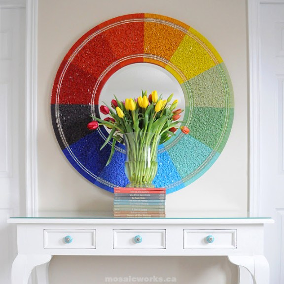 Color Wheel Mirror | 30 Amazing DIY Mirrors