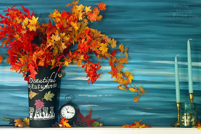 Autumn Mantle Décor and Vignettes | Pretty Handy Girl