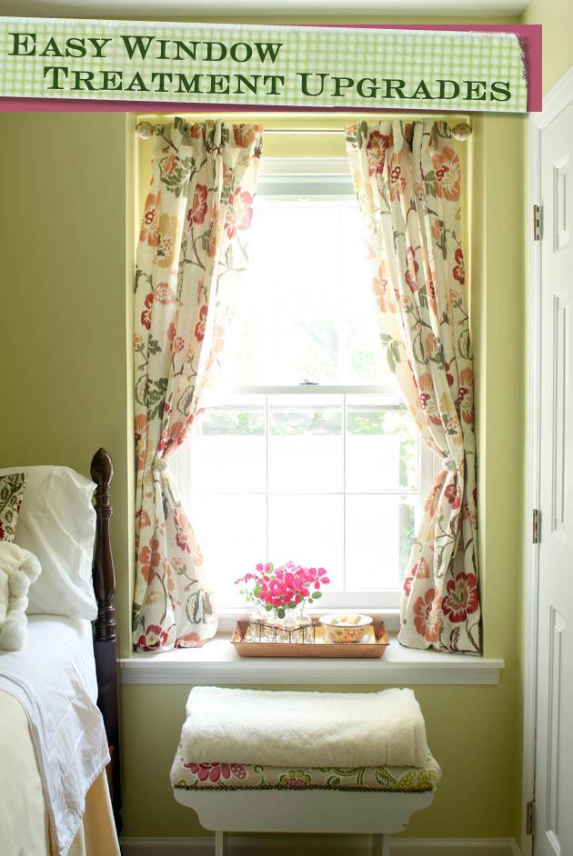 Easy Window Treatment Upgrades | Pretty Handy Girl