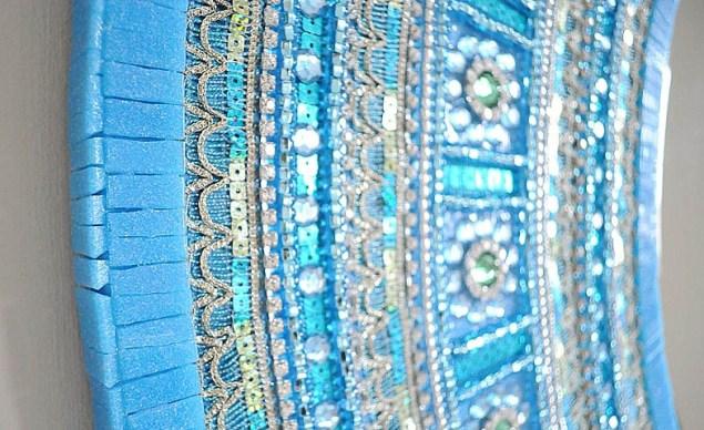 mosaic works blue mosiac mirro