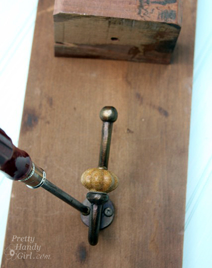 Vintage Coat Hook Wall Vase   Pretty Handy Girl Guest Post
