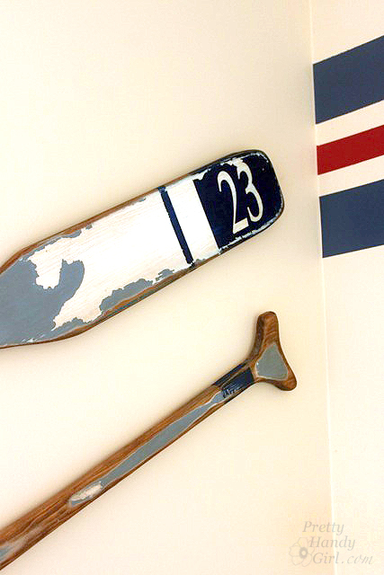 How to Make Vintage Painted Oars | Pretty Handy Girl