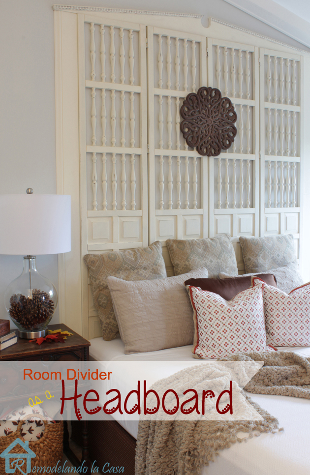 Upcycled FREE Room Divider becomes a King Size Headboard Pretty