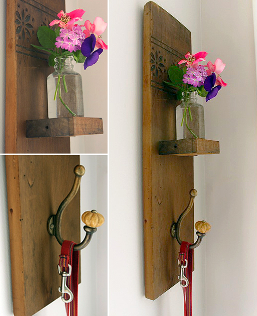 Vintage Coat Hook Wall Vase | Pretty Handy Girl Guest Post