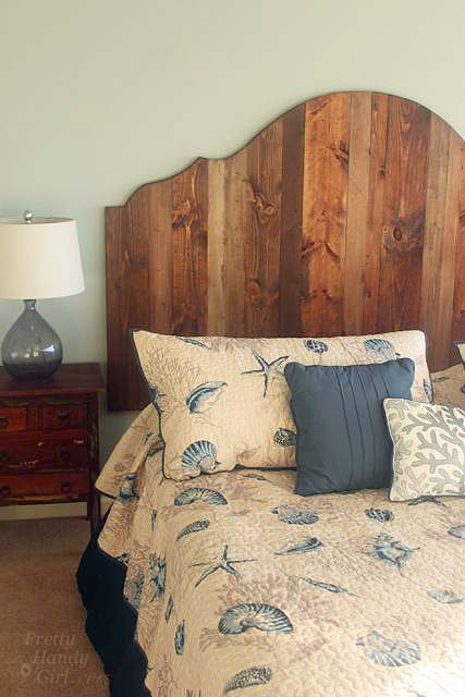 Create Rustic Wood King Headboard by Pretty Handy Girl