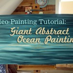 How to Paint Giant Abstract Ocean Painting