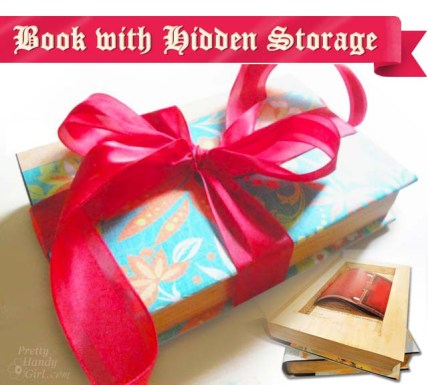 Book with Hidden Storage | Pretty Handy Girl
