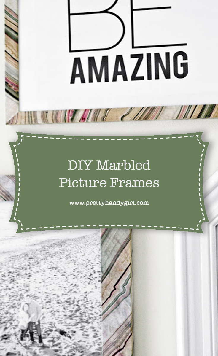 DIY Marbled Picture Frame | Pretty Handy Girl