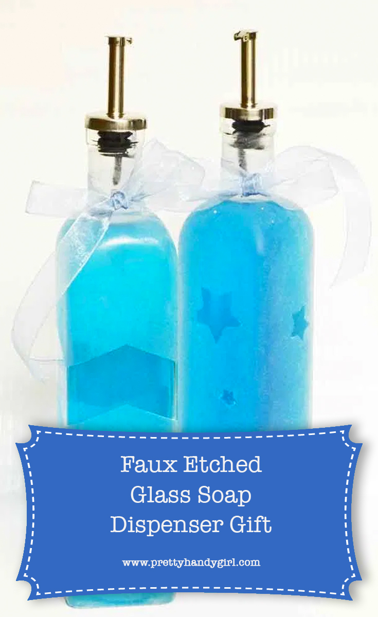 DIY Faux Etched Glass | Pretty Handy Girl
