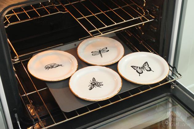 Pen and Ink Sketch Decorative Dessert Plates   Pretty Handy Girl & Pen u0026 Ink Sketch Decorative Plates - Pretty Handy Girl