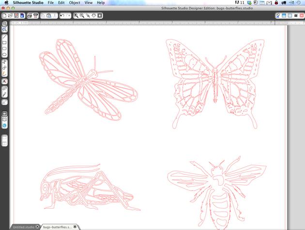 bugs-in-silhouette-studio