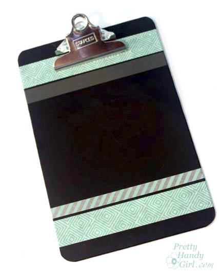Easy Decorated Chalkboard Clipboards | Pretty Handy Girl