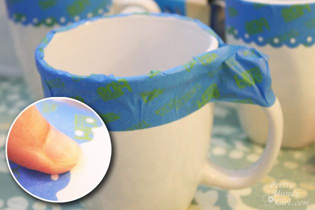 Chalkboard Painted Mugs | Pretty Handy Girl
