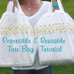 Cute Reversible Reusable Tote Bag Tutorial by Sawdust Girl