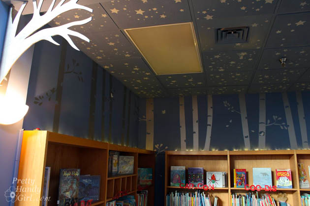School Library Painted with Montpelier Wedgewood | Pretty Handy Girl