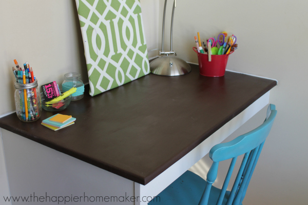 desk painted with Latex enamel