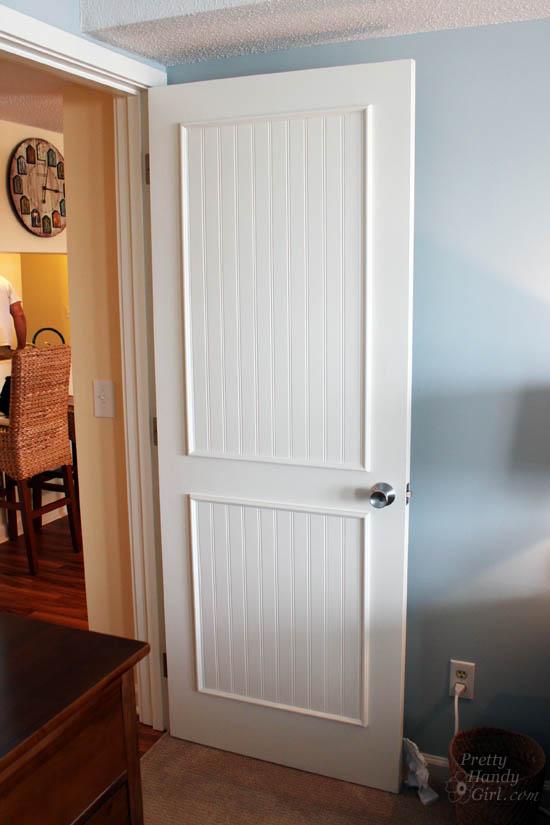 use bead board to update interior doors