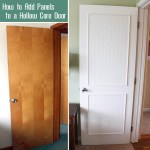 How to Add Molding Panels to a Flat Door
