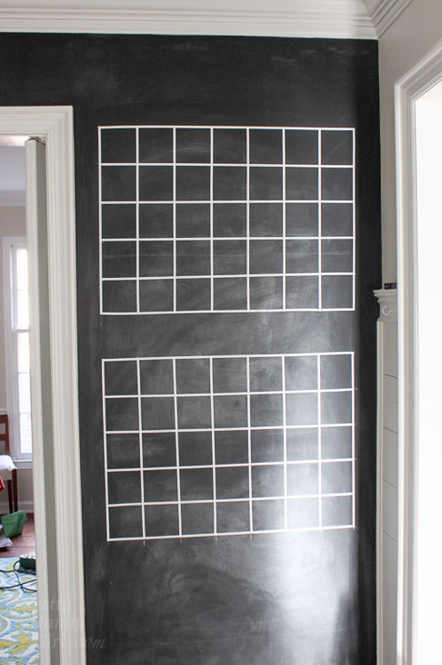 grid lines chalkboard calendar