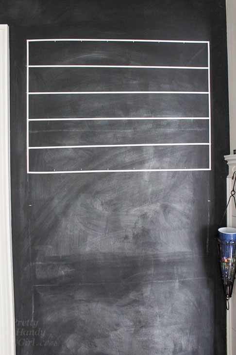 chalkboard horizontal lines drawn